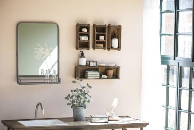 Ib Laursen – Nordische Deko mit Shabby Style im Badezimmer.