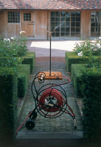 Waterette - Der nostalgische Gartenschlauchwagen mit Aussendusche