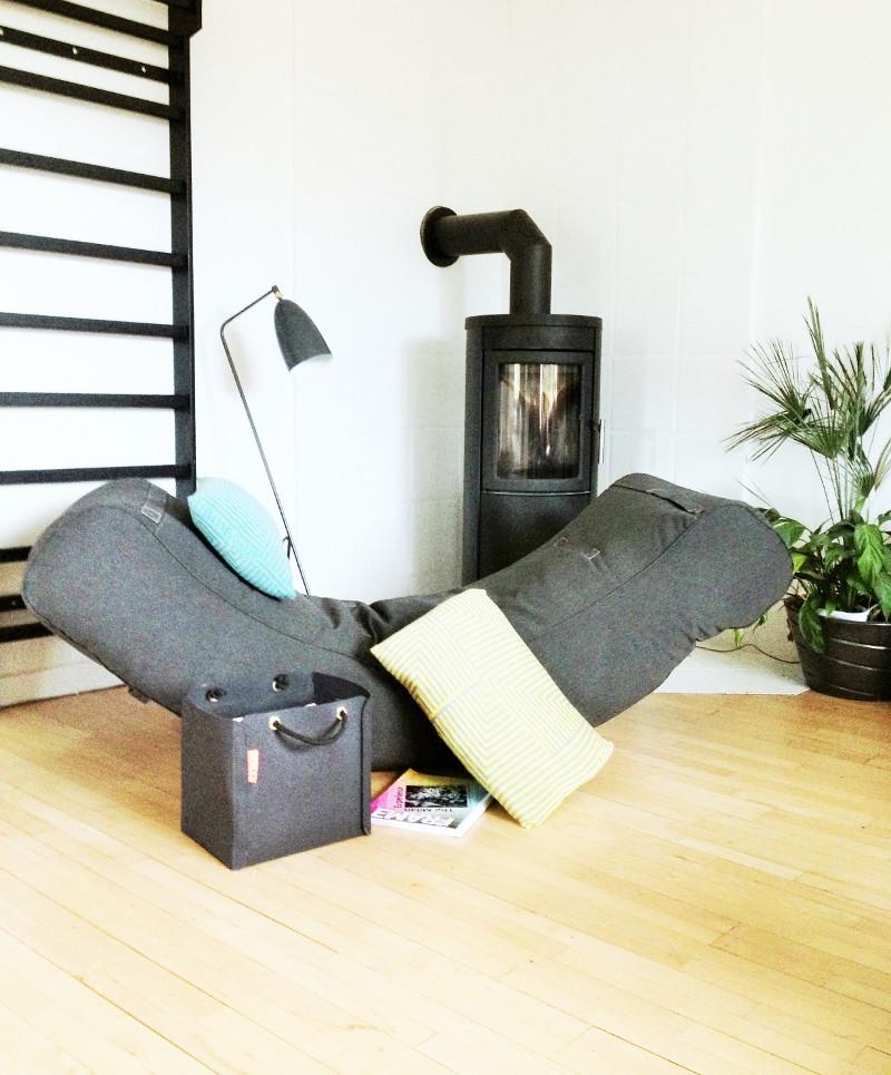 Indoor Sitzkissen und Möbel Half Moon, grey