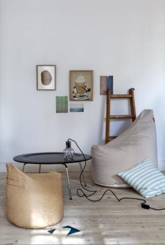 Sitzsack aus Leder von Trimm Copenhagen