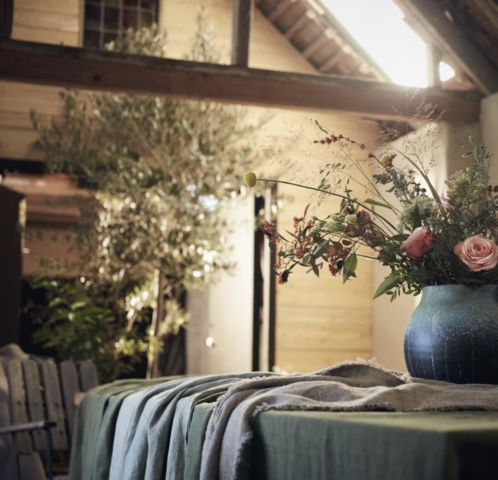 Tischdecken und Tischläufer aus Leinen