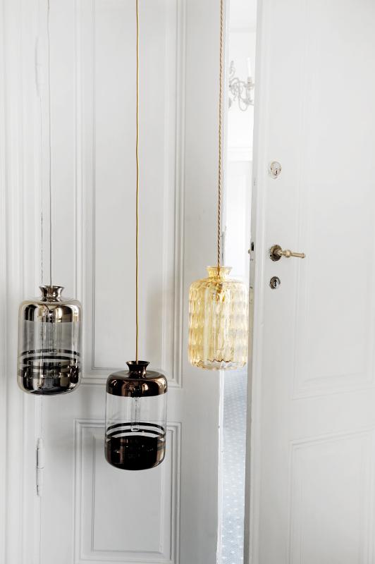 Hängelampe aus Glas Pillars_StripesDimple_1
