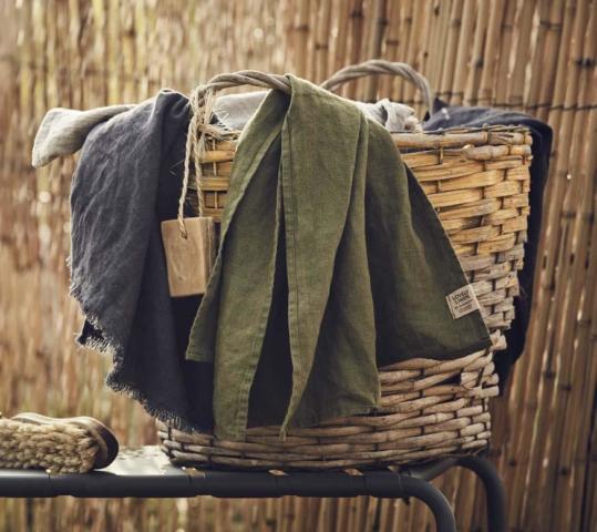 Sauna und SPA Badetuch mt und ohne Fransen von Lovely Linen