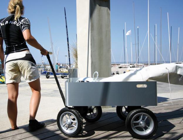 Wendige Transportwagen für Camping und Strand