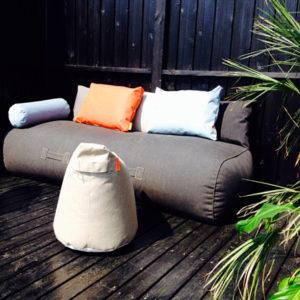 Gartenmöbel und Sitzkissen