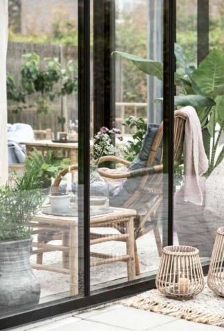 Rattan-Terrassenmöbel aus Skandinavien von Ib Laursen