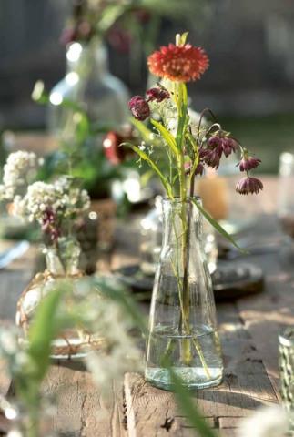 Blumenvasen aus Glas von Ib Laursen