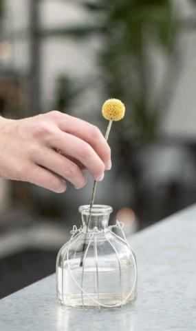 Blumenvasen aus Glas zur Dekoration von Ib Laursen