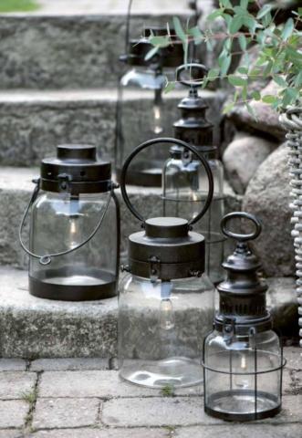 Gartenlampen aus Metall mit Ib Laursen aus Dänemark