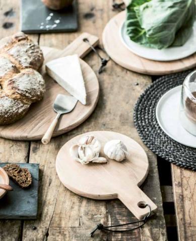 Küchenhelfer - Runde Tapasbretter und Käsebretter