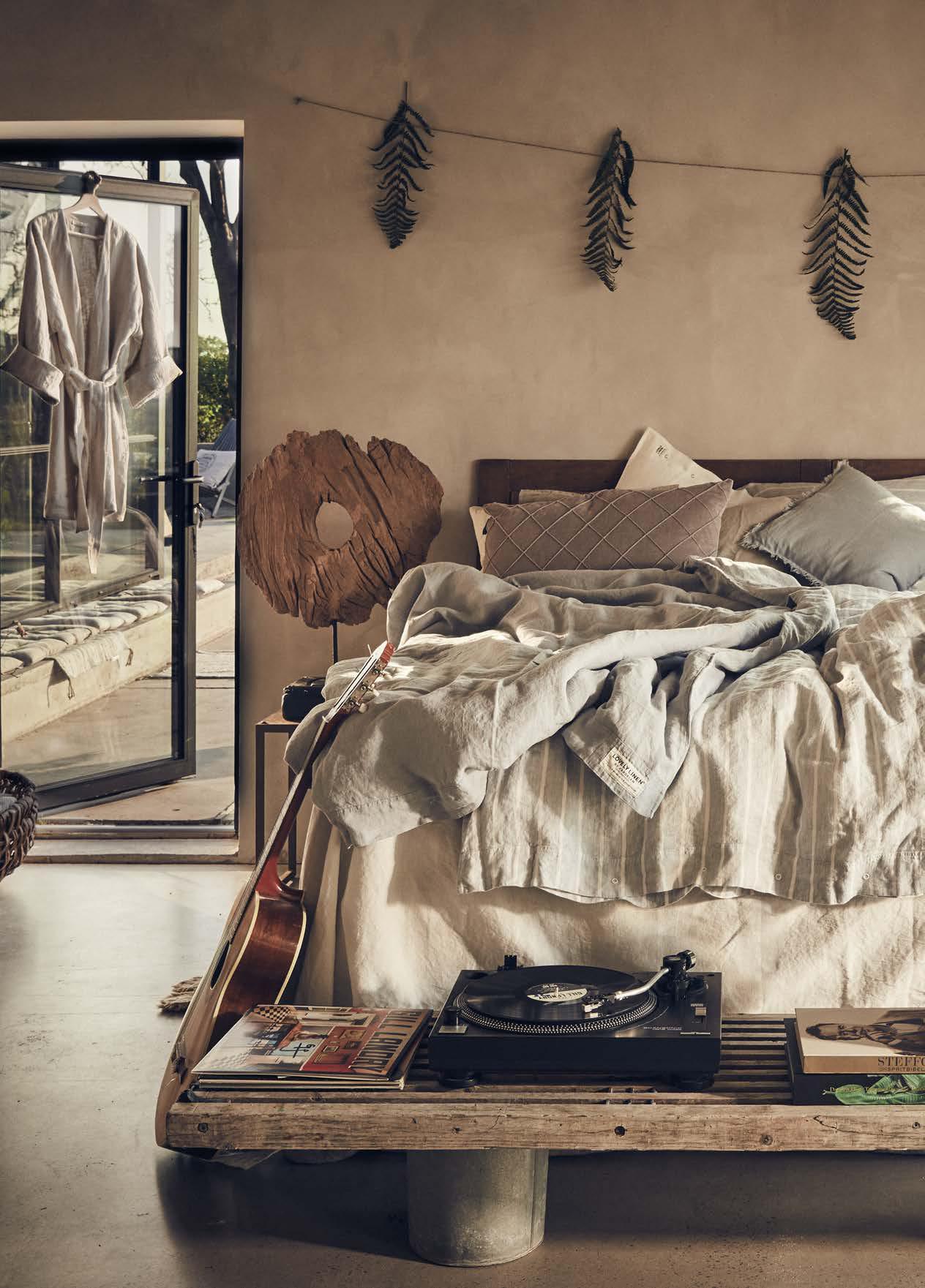 Bettwäsche aus Leinen Stripe