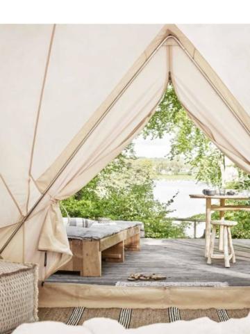 Outdoor Zelt und Glamping Style