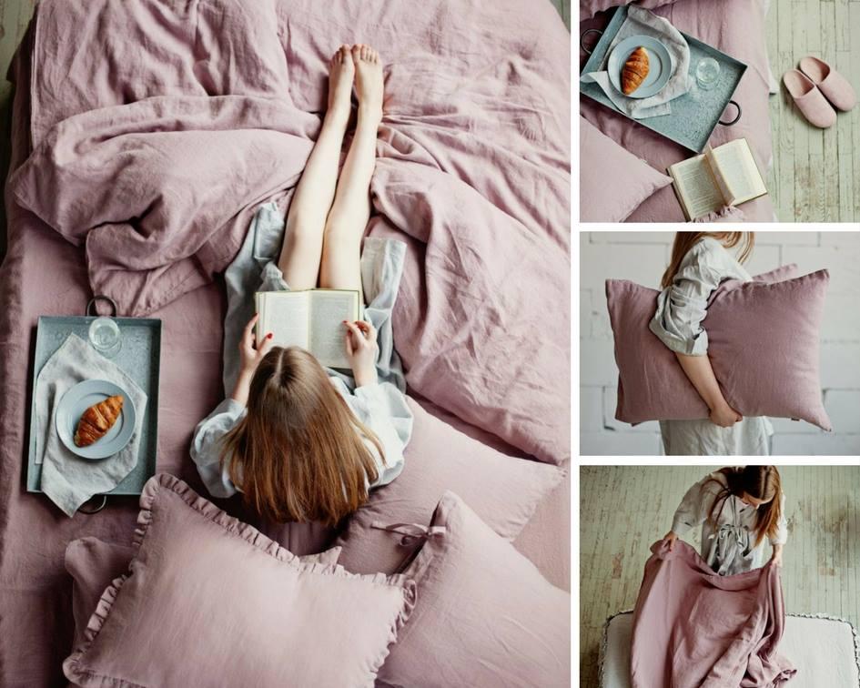 Sommer-Bettbezug und Bettlaken von Magic Linen