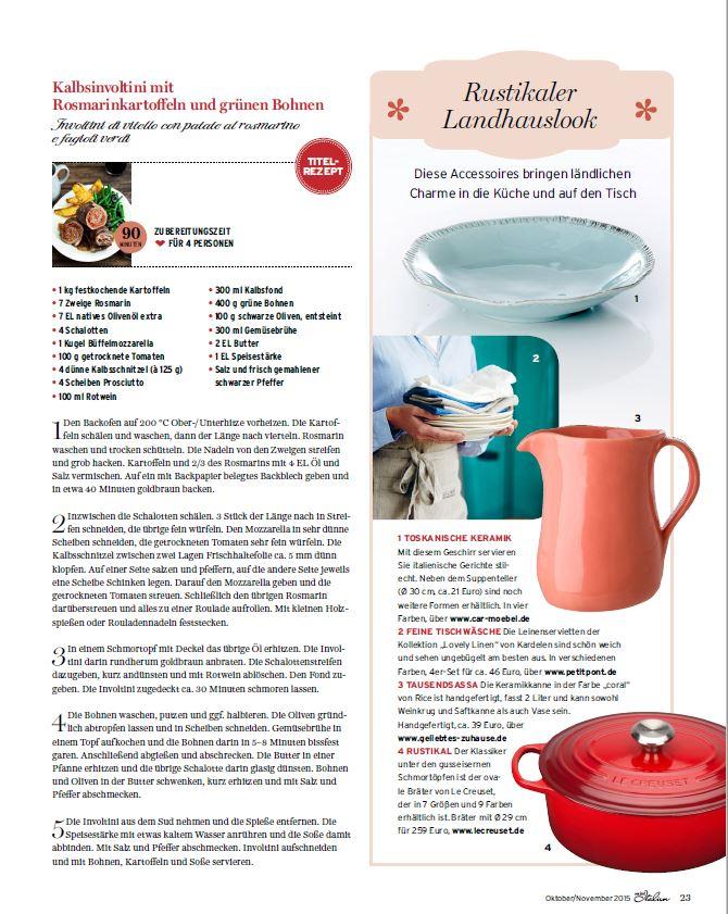 Hochwertige Servietten aus Leinen, Copyright Rustikale Landküche