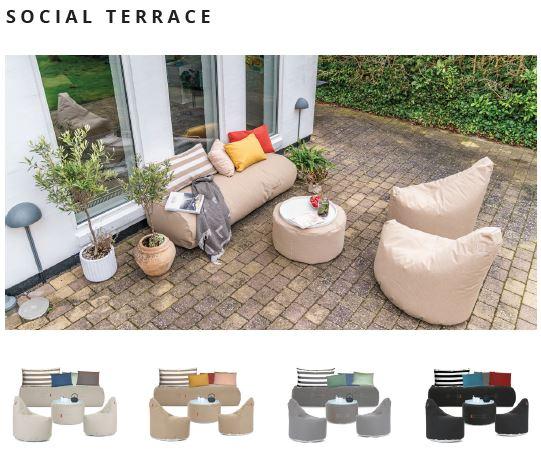 Outdoor und Terrassenmöbel social terrace von Trimm Copenhagen mit Tisch