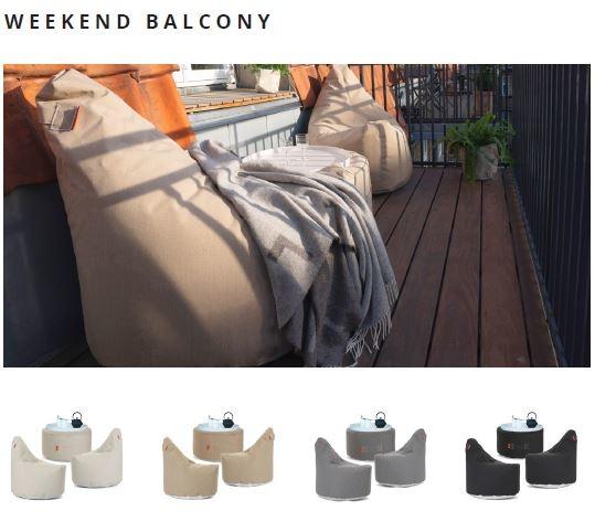 Outdoor und Terrassenmöbel weekend balcony von Trimm Copenhagen mit Decke
