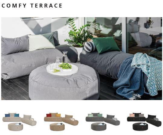 Outdoor und Terrassenmöbel comfy terrace von Trimm Copenhagen mit Tisch