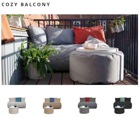 Outdoor und Terrassenmöbel cozy balcony von Trimm Copenhagen auf dem balkon