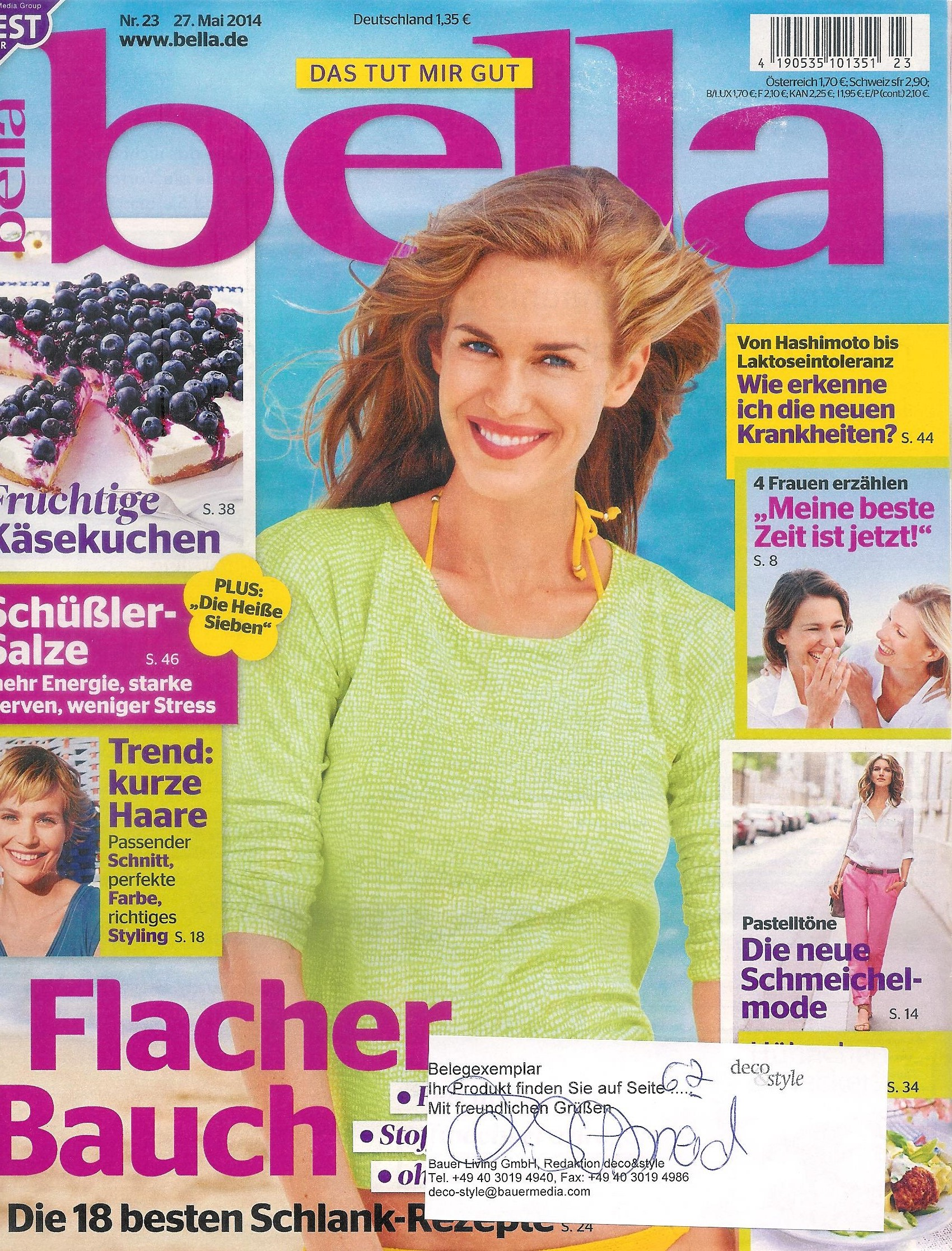 Geschirr Tovaglia in der Bella, Copyright bella Magazin 2014
