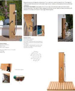 shower footwash california