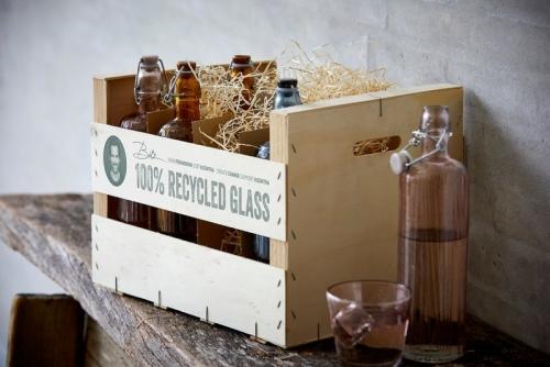 Bitz - Dekorative Wasserflaschen für den Esstisch
