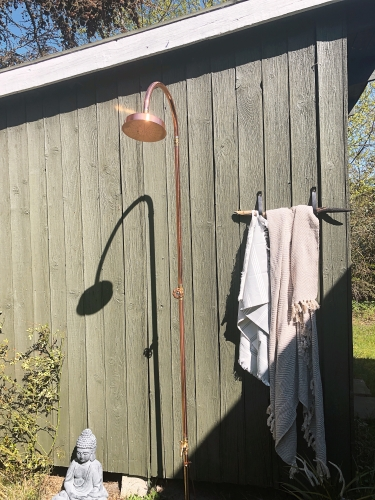 DIY Gartendusche günstig durch Selbstmontage