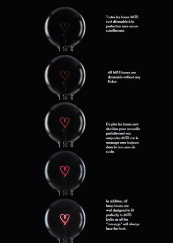 Message in the bulb,- Die DekoGlühbirne, dimmbar