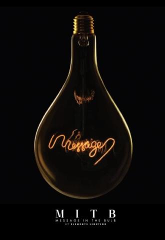 Message in the bulb,- Die DekoGlühbirne mit Charme und Message