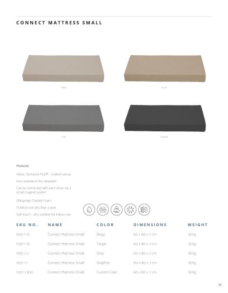Sitzkissen und Liegematten aus Skandinavien in schwarz, beige, taupe oder grau.