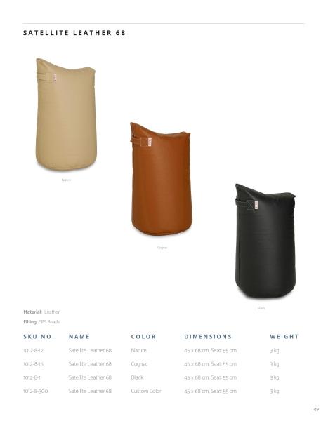 Große Sitzkissen in drei Farbvarianten