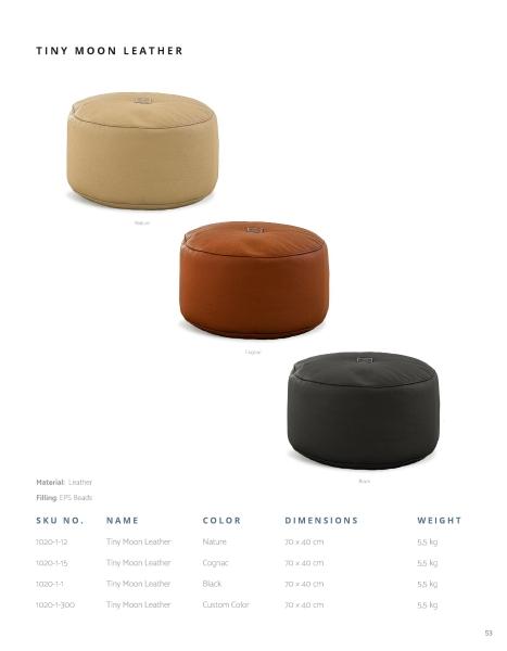Sitzkissen in rund. Die Wahl der Farbe