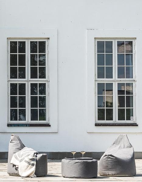 Skandinavische Sitzsäcke für Hotel und Gastronomie im Einsatz