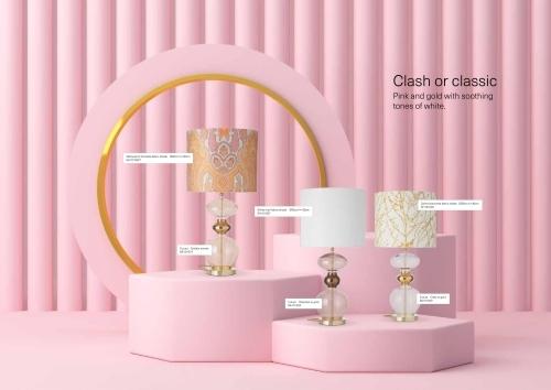 Skandinavische Designlampen aus Glas - Skandinavische Tischlampen mit Stoff