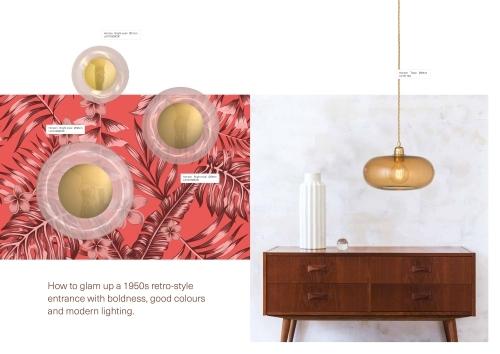 Skandinavische Designlampen aus Glas - Hängelampen aus Glas im Material-Mix