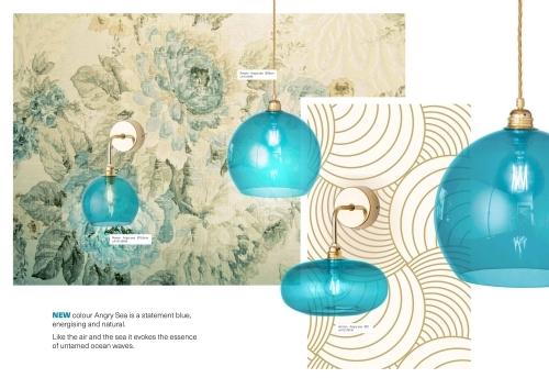 Skandinavische Designlampen aus Glas - Blaue Hängelampen aus Glas