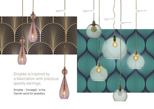 Skandinavische Designlampen aus Glas - Rosa Kristall Hängelampen aus Dänemark