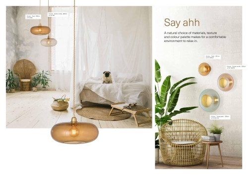 Skandinavische Designlampen aus Glas - Wandlampen im aktuellen Farb-Mix