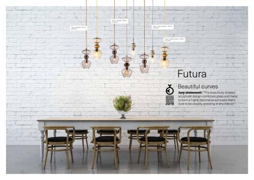 Skandinavische Designlampen aus Glas - Hängelampenserie über dem Esstisch