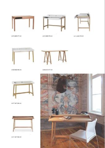 Slim Line Home Office Schreibtische aus Holz