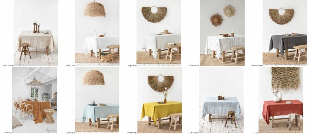 Natur Tischdecken aus Skandinavien